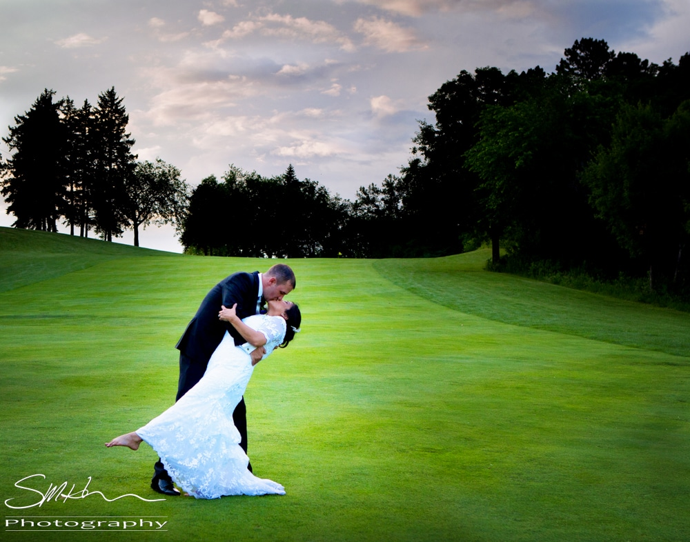 Wedding Photography on Golf Course in Minnesota